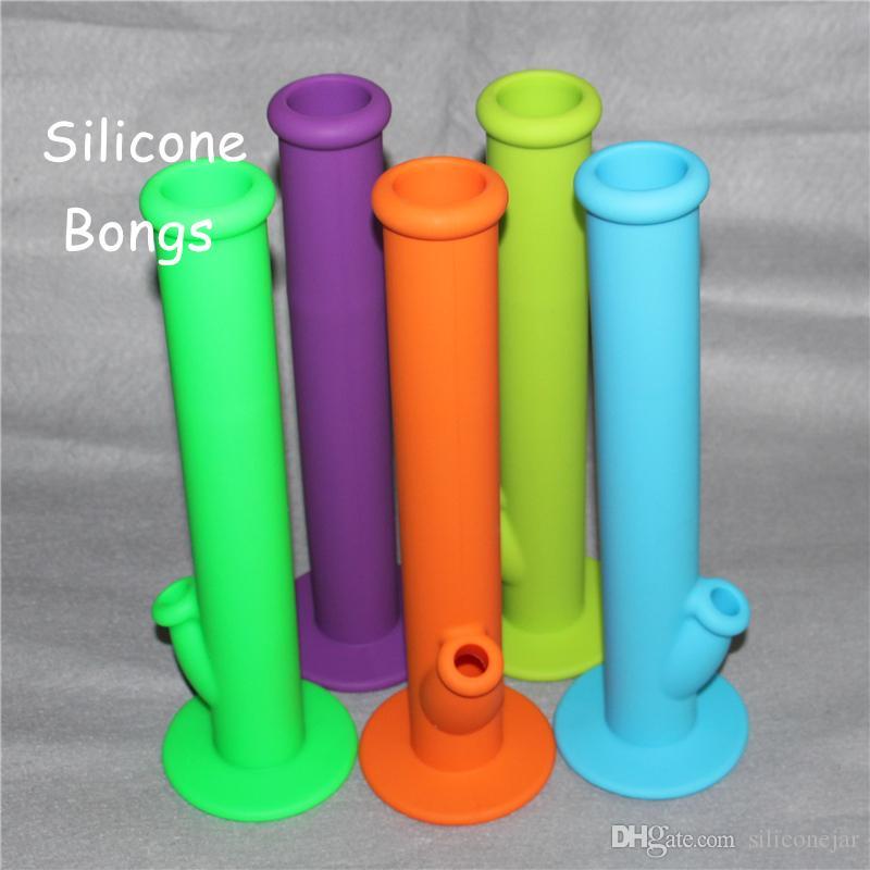 """2016 Novo Silicone Bongo de Vidro Da Tubulação De Água Plataformas de Petróleo Bongo de Vidro 14 """"Altura com 14.4 MM Conjunta De Silicone Material de Silicone Bongos De Água"""