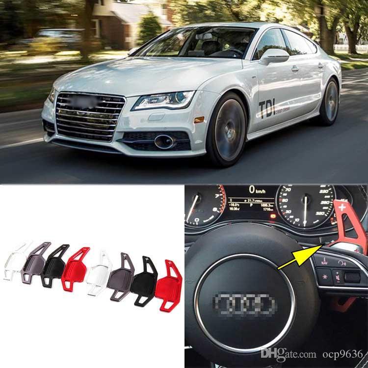 Новый высокое качество сплава надстройка на рулевом колесе DSG подрулевые переключатели расширение для Audi A7