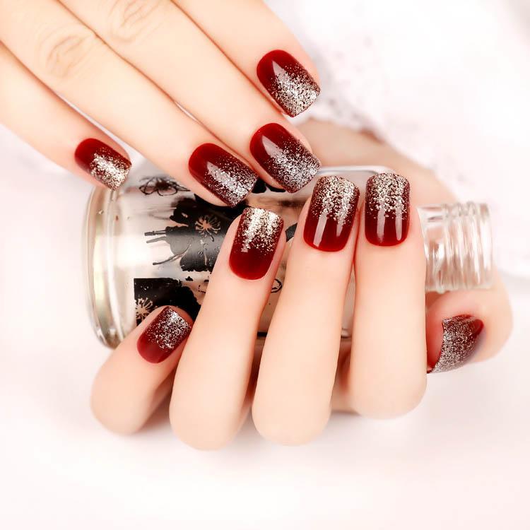 3Packs/lot Fashion Pre Design fake nails short style mixed colors ...