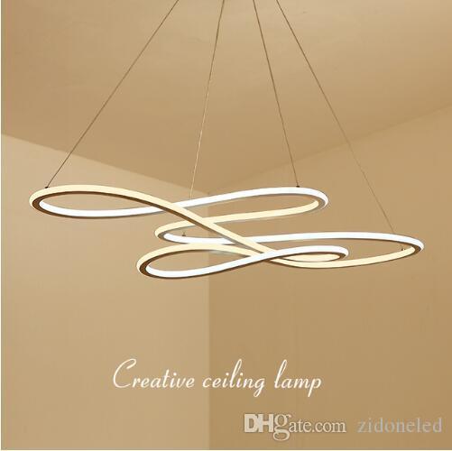 Double lumière latérale moderne pendentif mené lumière pendante Alumimum pendaison d'appareil d'éclairage pendant pour la cuisine dinant l'éclairage d'intérieur de salon