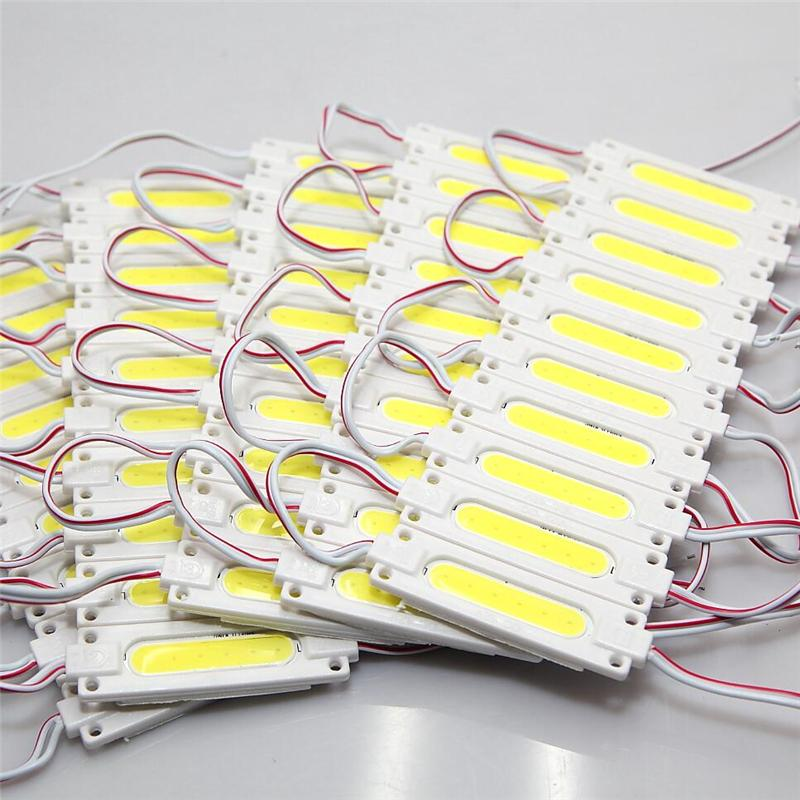 슈퍼 밝은 COB 1W / 2W LED 모듈 6500K 화이트 COB LED 칩 Wateproof IP67 R / G / B / 따뜻한 화이트 12V 주도 광고 라이트 쿨