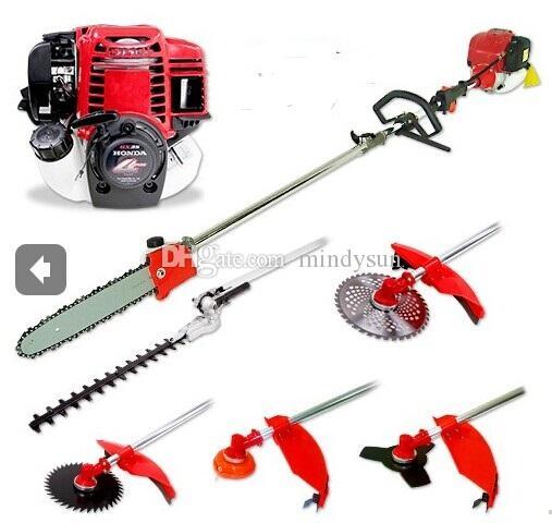 New Model Genuine Thailand GX35 Motor Multi Garden Brush cutter,chain Saw,pole hedge trimmer 6 in 1