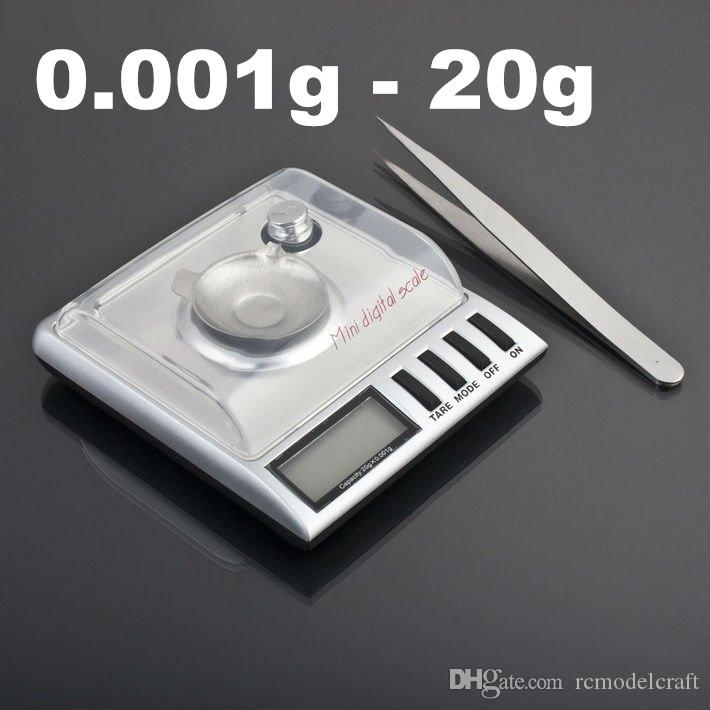 Mini High Accuracy 0.001g~20g digital LCD display 5 bits jewelry diamond weighting electronic pocket mini silver Gem scales