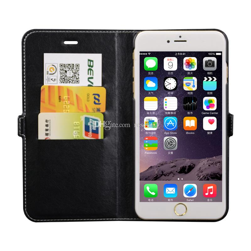For Apple iphone 6 Cases Wallet Case Business Card Frame 6plus ...