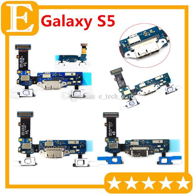 Liman Dok Bağlantı Mikro USB Bağlantı Noktası Flex Kablo Şarj OEM için Galaxy S5 SM-G900F G900H G900A G900T G900M VS G900P G900V G9008V G9008W