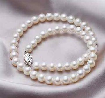 9-10мм South Sea Round White Pearl ожерелье 24 дюймов 925 Серебро Застежка
