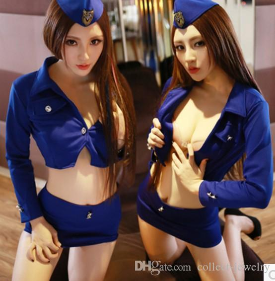 Bonito feminino policial sexy role play Lingerie Sexy Sexy Lingerie pijama (lmmwqqsc)
