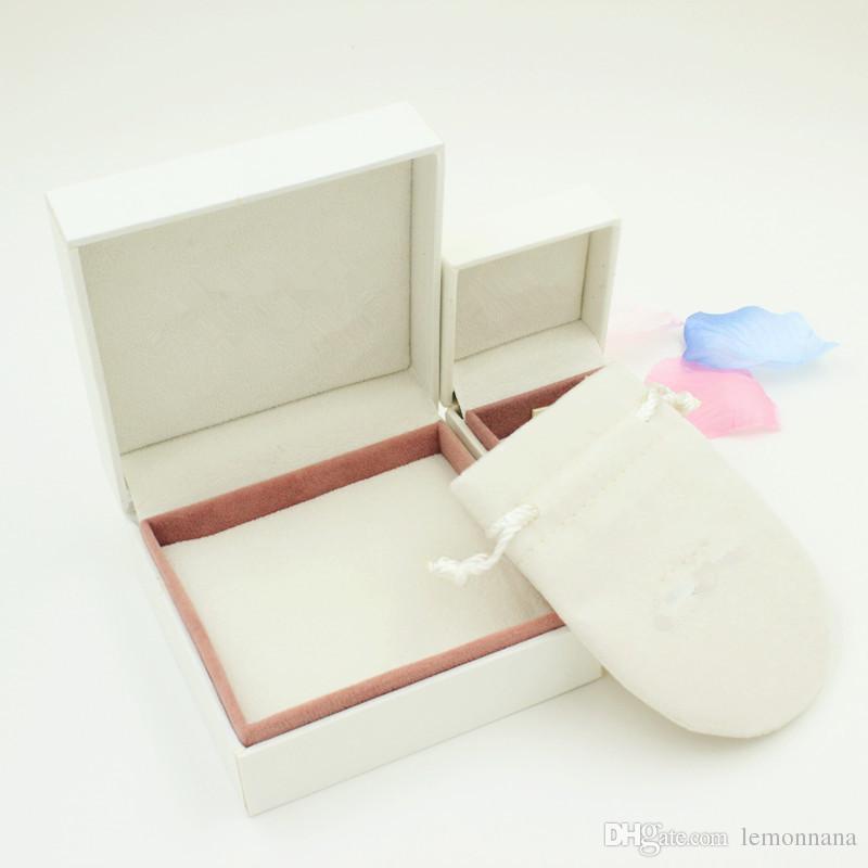 صندوق تغليف المجوهرات متوافق مع الشعار حقائب الحقائب والمجوهرات سوار الإسورة علبة هدية