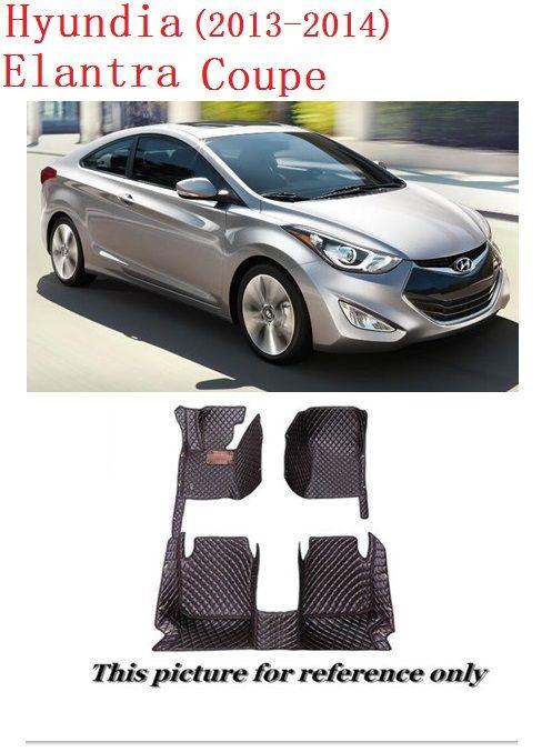 Tappetini in pelle SCOT per tutte le condizioni meteo per Hyundai Elantra Coupe Tappeto anteriore antiscivolo anteriore per tappeti Custom-Fit con guida a sinistra