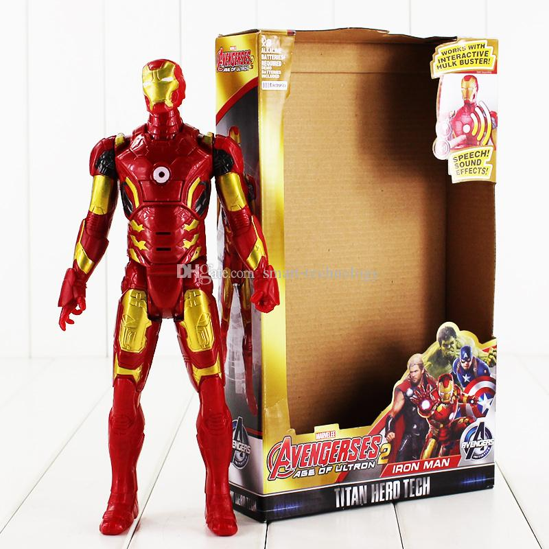 29cm Super Heros Iron Man Tony Stark PVC Action Figure Collectable Model toy for kids Christmas gift free shipping retail
