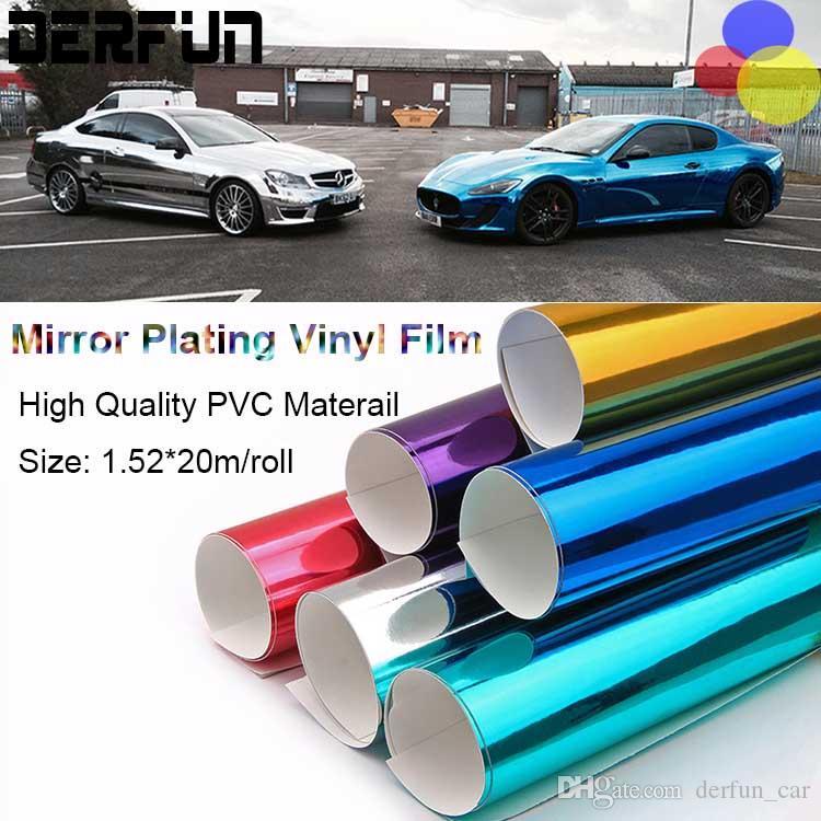 Stretchable cromato viola per applicazione 3d 1,52/m larghezza Car Wrapping Foglio di cromo