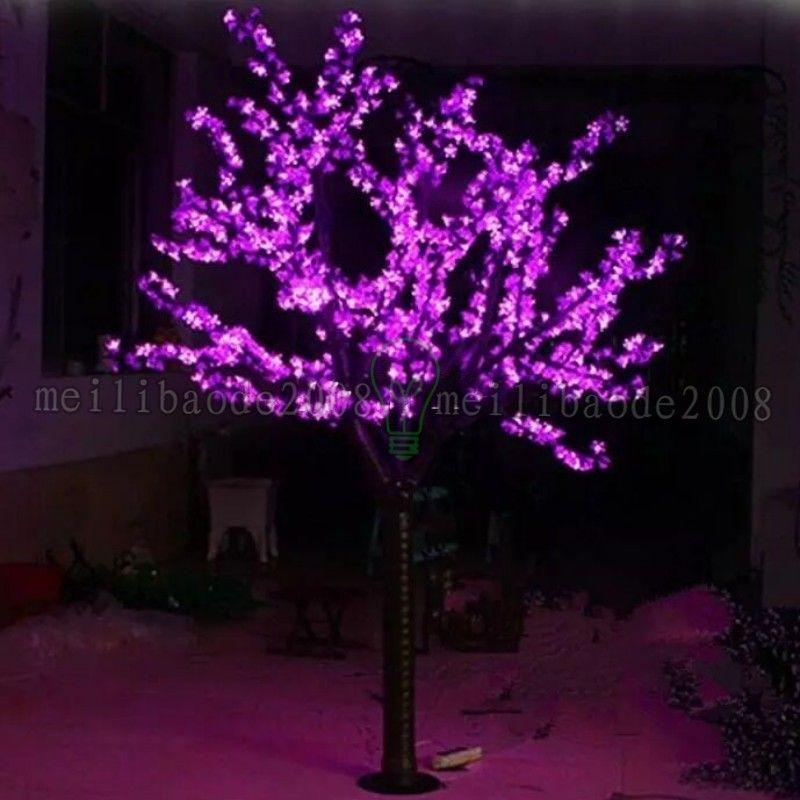 LED LED Artificial árbol de la flor de luz Luz de Navidad Bulbos 1248pcs 2m / 6.5 pies de altura 110 / 220VAC al aire libre impermeable Uso gratuito de envío MI