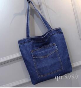 2017 yeni çanta toplu denim kanvas denim omuz eklem tüm maç eğlence alışveriş çantası