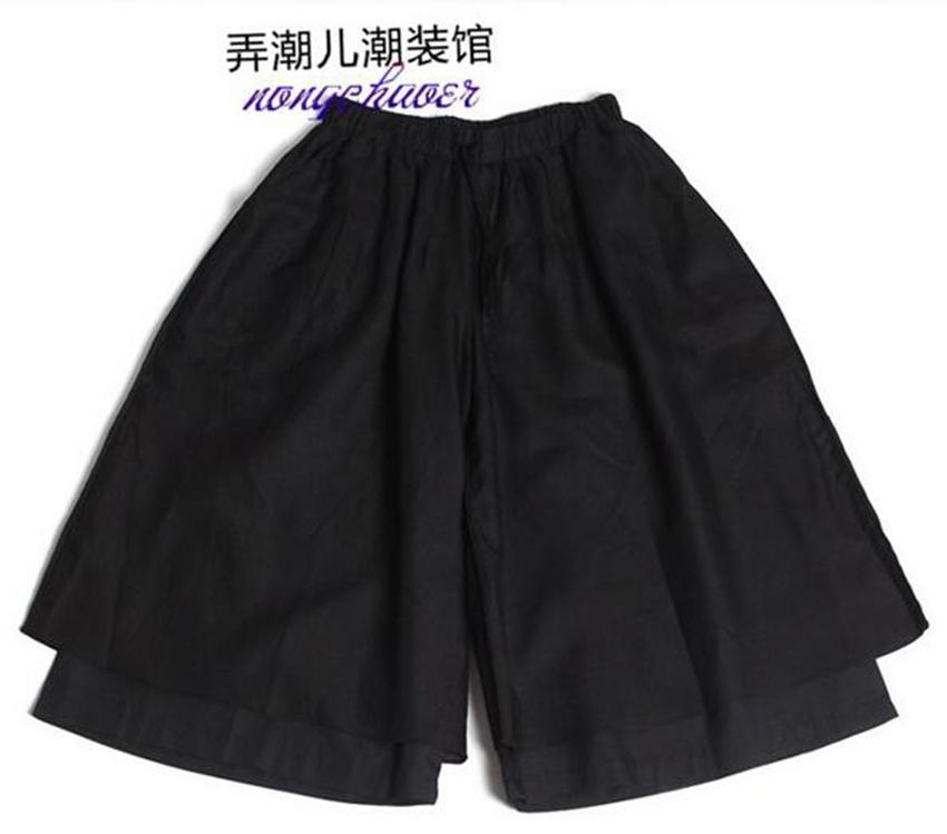 Verão dos homens nova moda e personalidade 7 minutos de calças largas pernas soltas han edição maré masculino lazer calças saia / personalizado