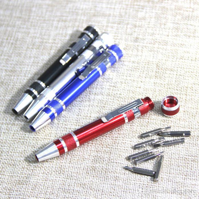 8 in 1 Präzisionsmagnetischer Stift Stil Schraubendreher Schraube Bit Set Schlitz Phillips Torx Hex v1.5-3.5 Reparatur Tragbares Werkzeug für RDA