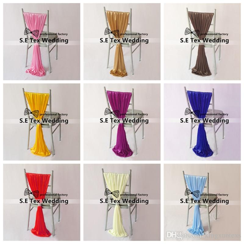 50pcs Lot Ice Silk Chair Sash With Buckle Fit For Chiavari Chair Decoration For Wedding Event Decoration