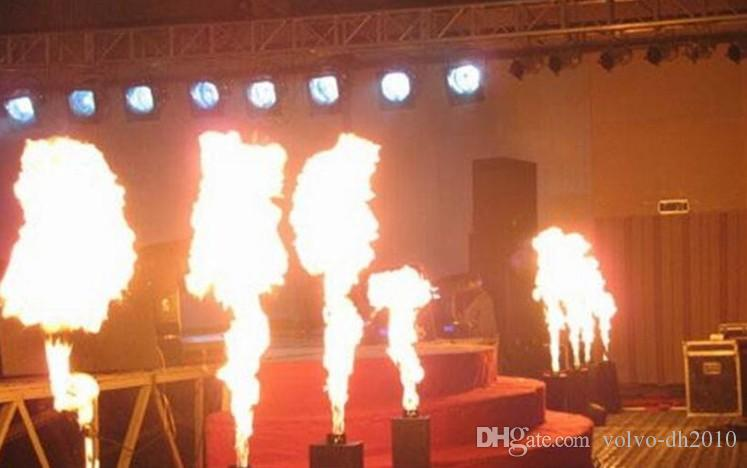 6 flammes de projecteur de flamme de flamme de projecteur de flamme de machine de feu de pétrole de gaz de pétrole liquéfié de la machine DMX d'angle de gaz de pétrole liquéfié de DMX 512