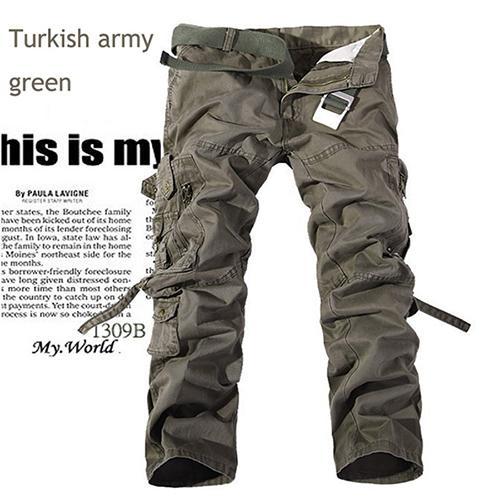 Herren 14 Farben Casual Hosen Ohne Gürtel Große Taschen Lose Stil Camouflage Hosen Plus Größe 28-38 Multi-color für Männer
