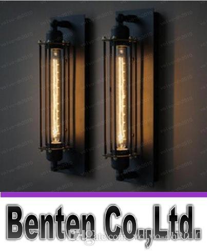 60w Loft Industrial Vintage Edison Lámpara de Luz de Pared Para Hogar Aplique de Metal Marco de Metal Característica de Fábrica Envío Gratis LLFA289