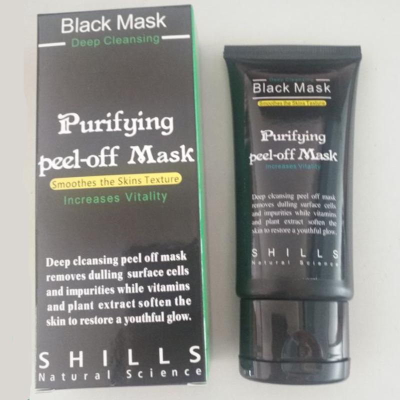 Siyah Kafalar Temizleyici Gözenek Yüz Maskesi shills Kara Maske siyah nokta Remover Derin Temizleyici Peel Off Siyah Çamur Yüz Maskesi Arındırıcı Peel Akne