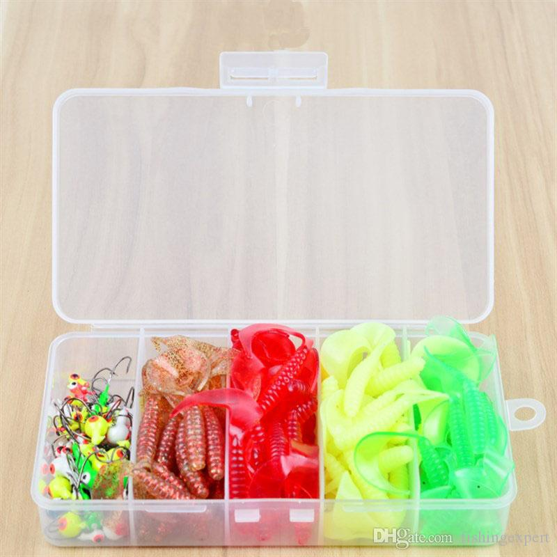 130Pcs//set Simulation Fishing Lure Plastic Shrimp Fish Worm Lure /& Crankbait+Box