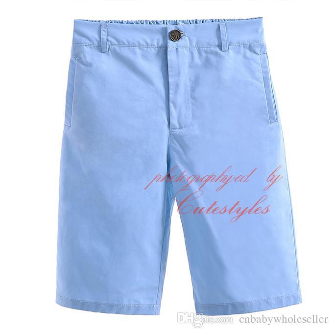 Новые летние и осенние Cutestyles сплошной цвет шорты для мальчиков середины талии 100% хлопок Детская одежда с молнией летать и кнопки PT90324-28L