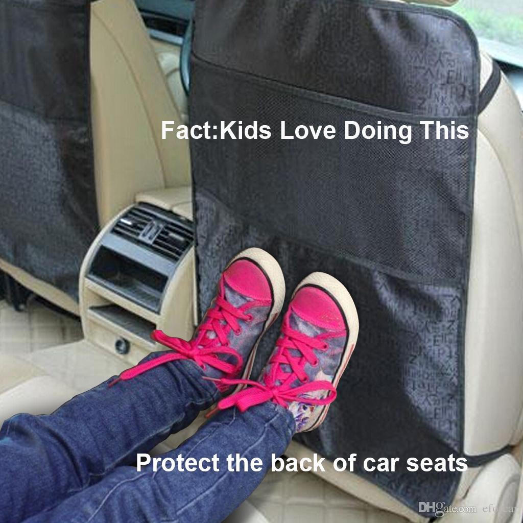 1 X Araba Su Geçirmez Anti Tekme Yastıklı Çocuk Bebek Çocuk Araba Koltuğu Geri Itişme Kir Koruyucu Mat