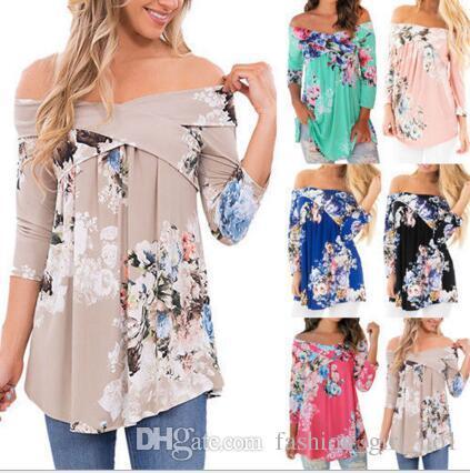Mode Günstige Frauen Drucke T-Shirts Freizeitkleidung Langarm T-Shirt Weiblich Loose Fit Tops Shirts