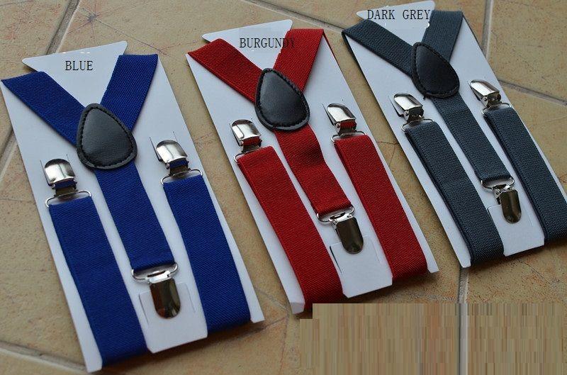 Boys Girls Kids Elastic Suspender Y-shaped Adjustable Strap Braces 8 Colors