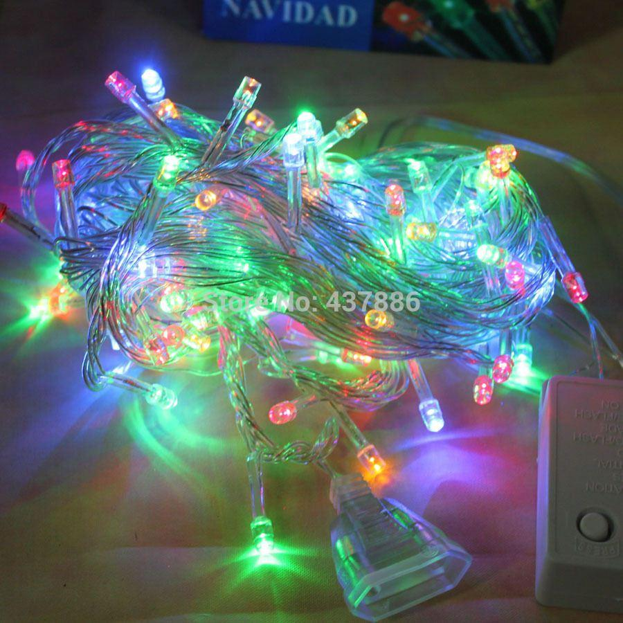 Christmas decoration supplies colorful in lantern 10 meters multicolour led lighting christmas tree decoration
