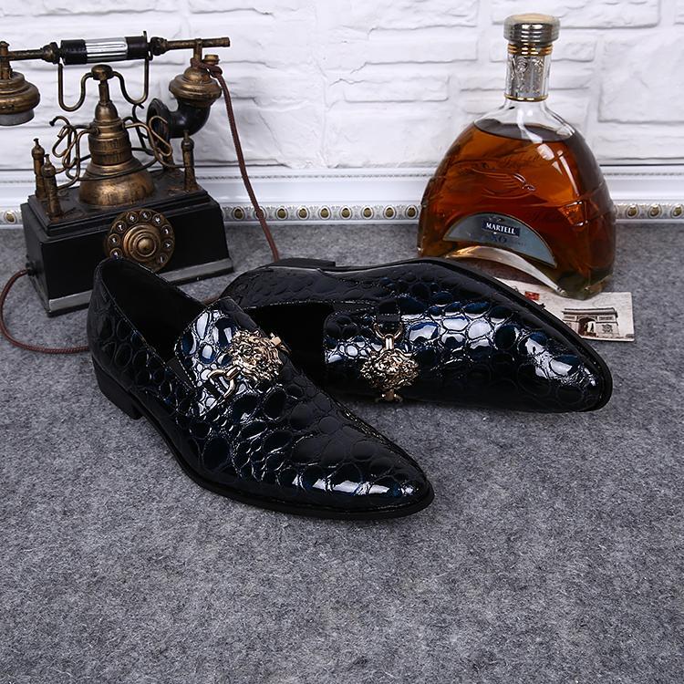 Fiesta de baile con remaches 2016 vestido de boda nuevos zapatos de los hombres de la llegada, zapatos de cuero de los hombres envío libre
