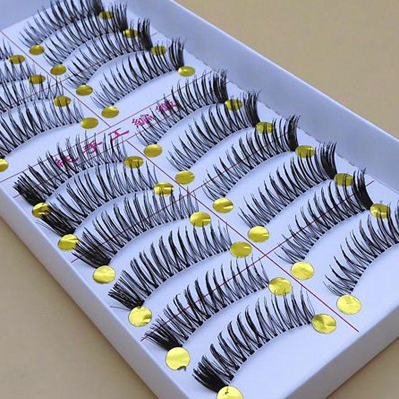 F-08 New Handmade pestanas falsas pestana transparente hastes Naturalmente grossos cílios postiços Falso Cílios natureza de longo
