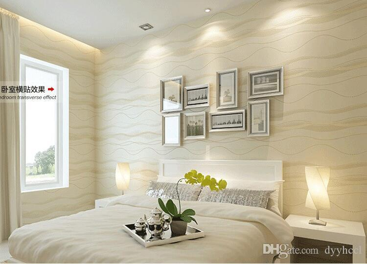 Wavy Stripes Modern 3D Wallpaper For Walls Striped Wall Paper Bedroom3d Papel