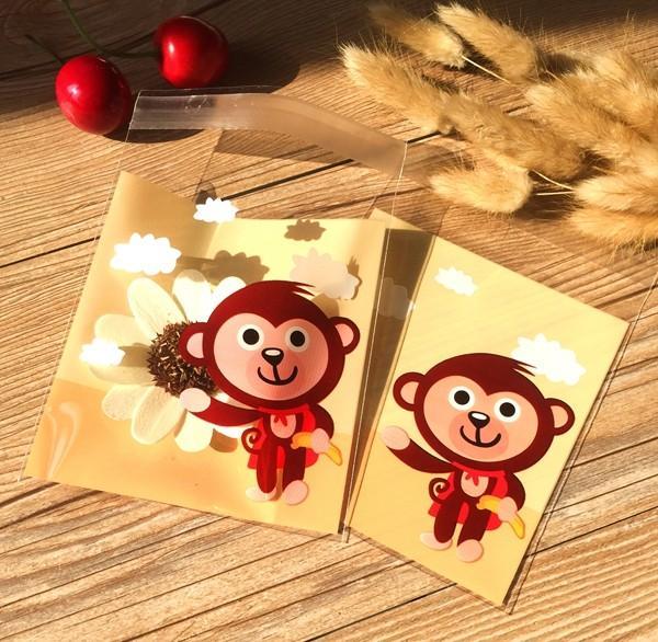 Livraison gratuite singe superman décoration cookie biscuit sac bonbons bijoux sac cadeau cadeau d'emballage sac garçon enfants faveurs fournitures