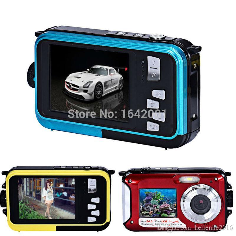 جودة عالية للماء 24MP HD كاميرا رقمية شاشات مزدوجة الرياضة كاميرا HD كاميرا فيديو رقمية 1080P CMOS 16X تكبير كاميرا الفيديو