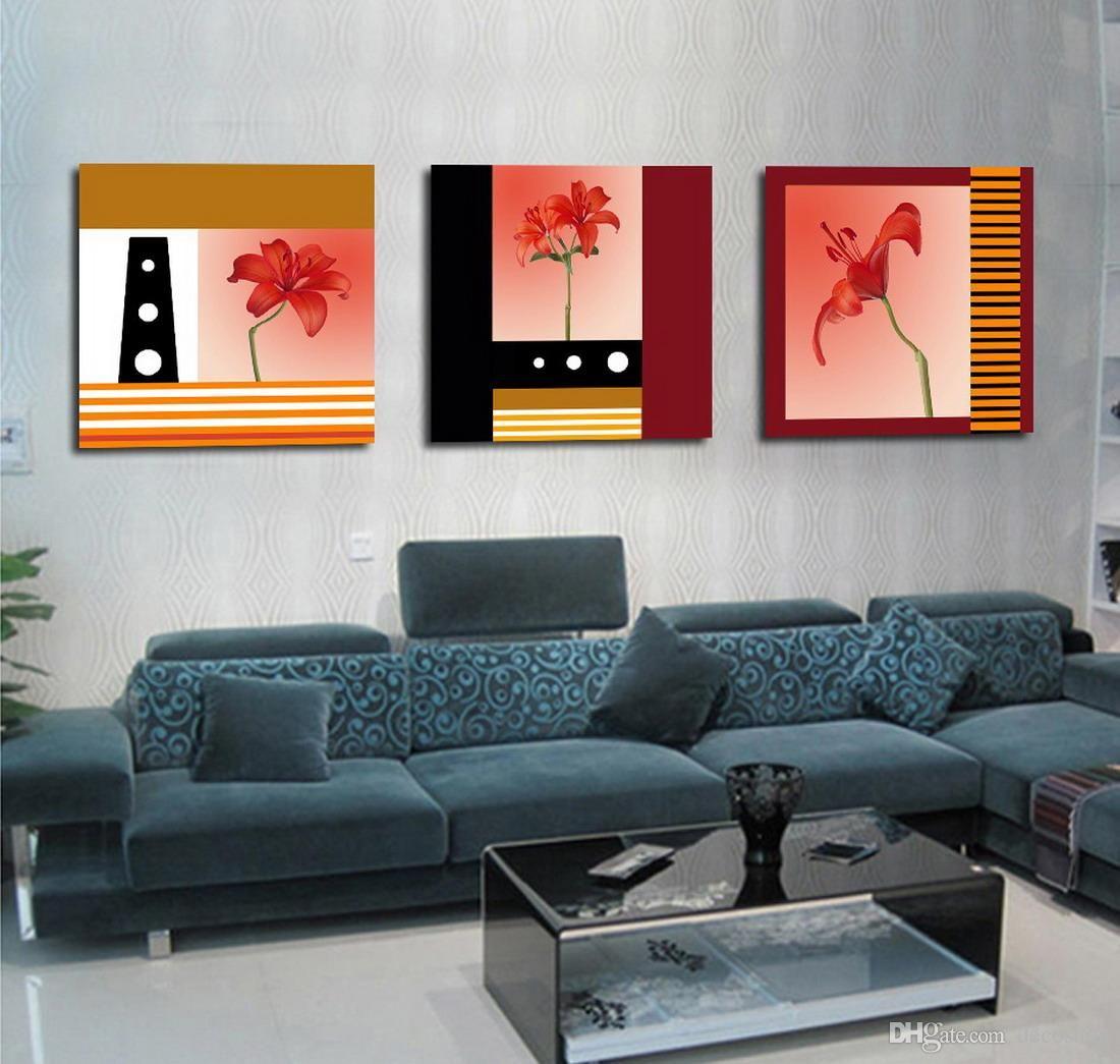 Contemporânea Belas Flores Imagem Giclee Impressão Na Lona Home Decor Wall Art Set30146