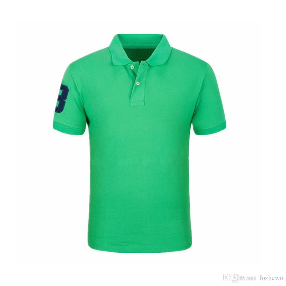 USA Größe Casual Poloshirt Männer Solid Poloshirt Marken Heilige Männer Britische Polo Hemden Schafkopf Baumwolle Kurzarm Männer