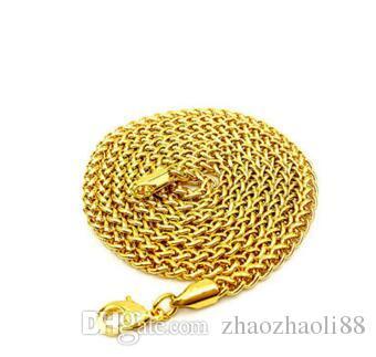 HipHop Männer Hip Hop 18 Karat vergoldete Halskette hohe Qualität 3,0 Blumenkorb Kette