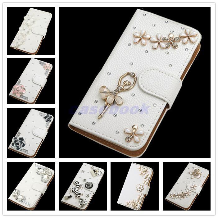 Para Galaxy S7 nova moda de cristal Bow Bling Torre 3D Diamante Glitter Casos carteira de couro Samsung S7 Caso Galaxy S para