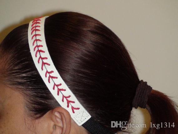 BaseballSEAMSTITCH STIRNBAND Stretch Sports Baseball LEDER