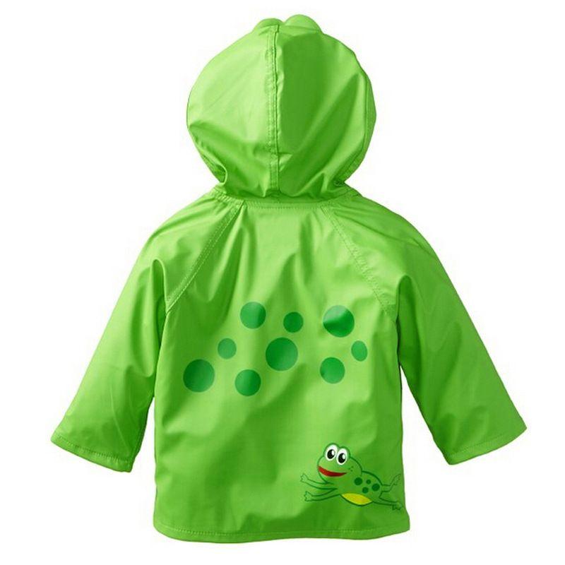 Children Boy Girl Kid Raincoat Rain Coat Rainwear Suit Poncho Cape Hooded US