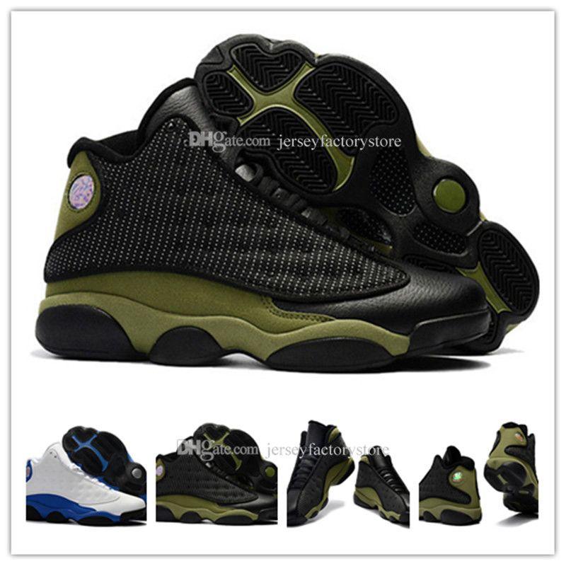 Pas cher New 13 OG Noir Cat Chaussures Hommes de basket-ball pour hommes femmes chaussures 13s Athletics Black Cat Baskets taille Qualité US 8-13