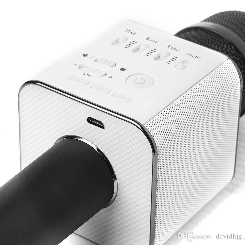 Altoparlante professionale senza fili del giocatore del microfono di Karaoke di Bluetooth di KINGS Magic Q9 di marca di BINGSENTEC con il caso Carring per il Android di Iphone