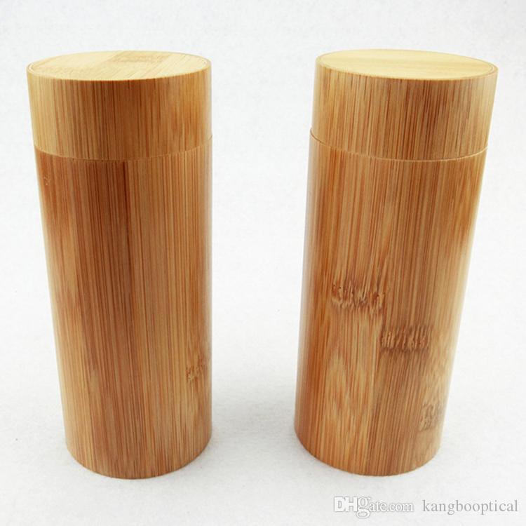 cassa di bambù fatta a mano rotonda dura di bambù di legno fatta a mano degli occhiali da sole della cassa degli occhiali da sole caso della scatola di immagazzinaggio di caso della protettore Marca trasporto libero