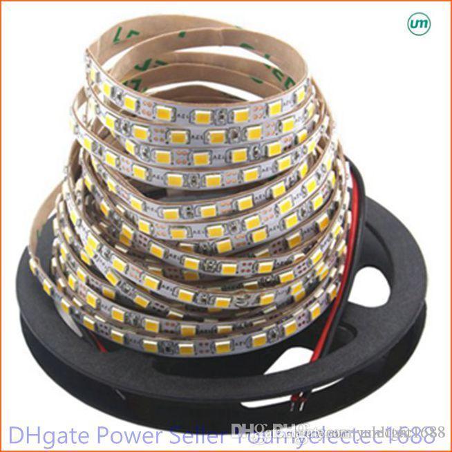 Super Bright 5M 2835 SMD 120LED / m 600LED Weiß Warmweißer flexibler LED-Streifen 12V Nicht wasserdichter, heller als 3528er Streifen
