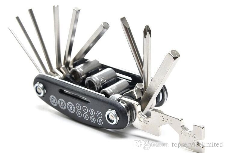 Good 15 in 1 outain Bicycle Tools Sets Bike Bicycle Multi Repair Tool Kit Hex Spoke Wrench Mountain Cycle Screwdriver Tool