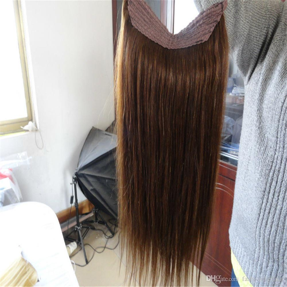 Halo Hair Extension Real Russian Natural Hair Flip In Human Hair