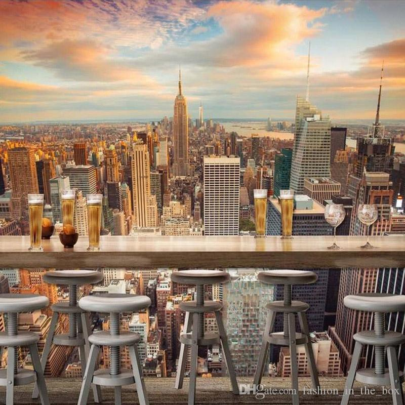 Manhattan 3d Wallpaper New York City Wall Mural Urban Night Photo Wallpaper Bedroom Tv Sofa Background Scenery Room Decor Bed Paper Parede Computer Desktop Wallpaper Computer Desktop Wallpapers Full Hd From Fashion In The Box