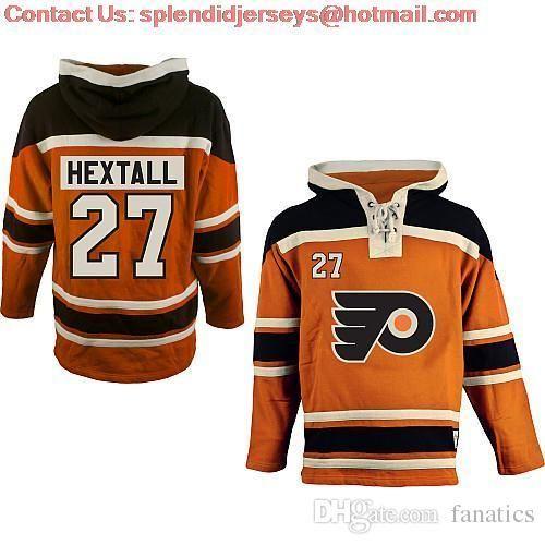 2016 NOUVEAU Old Time Hockey Philadelphia Flyers 27 Ron Hextall Sweat-shirt Sweatshirt, Dentelle Jerseys Fleece Hoodiewholesale