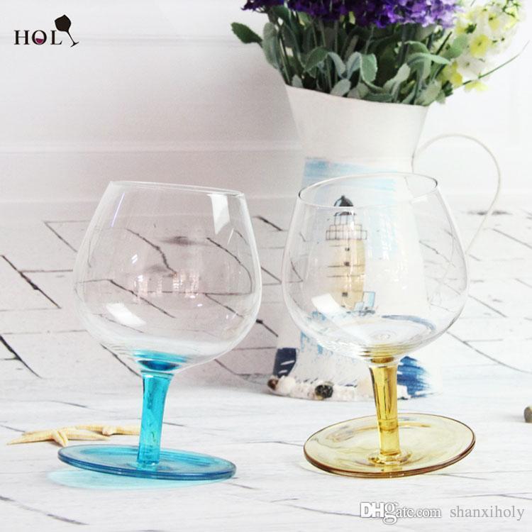 Kreatives Weinglas-Farbstamm-Rotweinglas